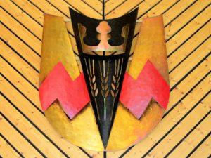 Das Wappen von Eckfeld im Gemeindesaal