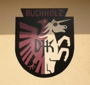 Das Wappen der DJK Buchholz am Sportlerheim