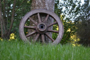 altes Holzrad