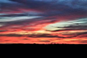 Sonnenuntergang - Blick Richtung Kirschberg