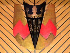 Das Eckfelder Wappen im Gemeindesaal