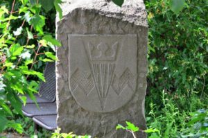 Wappen in Sandstein