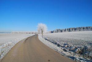 Winterlandschaft auf der Loog